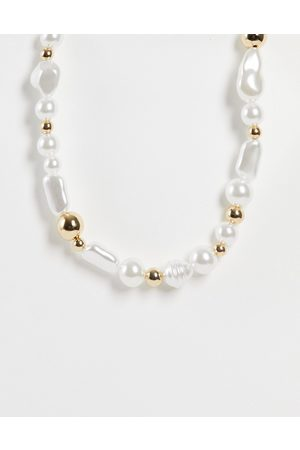 ASOS Necklace in pearl and beads