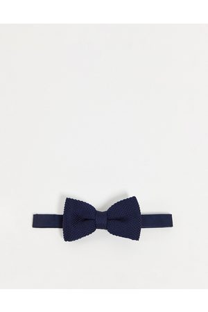 Devils Advocate Knitted bow tie-Navy