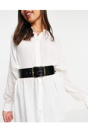 & Other Stories Leather croc belt in