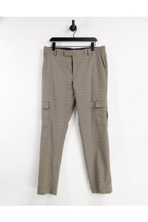 ASOS DESIGN Skinny cargo smart trouser in check