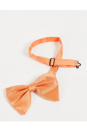 Devils Advocate Angel wing satin bow tie