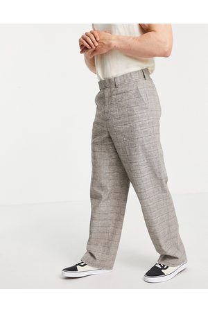 ASOS DESIGN Men Chinos - Extreme wide smart trouser in prince of wales check