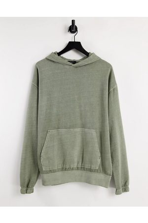 New Look Washed hoodie in light khaki