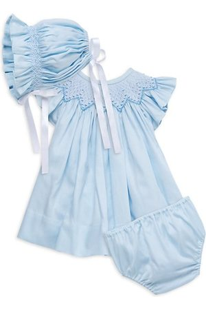 Isabel Garreton Baby Girl's Bishop Pique Dress, Bonnet & Diaper Cover Set