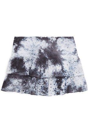 KatieJ NYC Girl's Lily Tie-Dye Eyelet Skirt