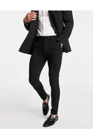 ASOS Super skinny tuxedo suit trousers in