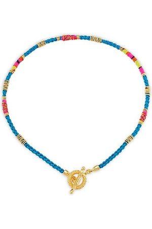 Gas Bijoux Necklaces - Marceau 24K Goldplated & Silk Necklace