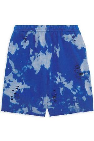 KatieJ NYC Girl's Reggie Tie-Dye Distressed Shorts