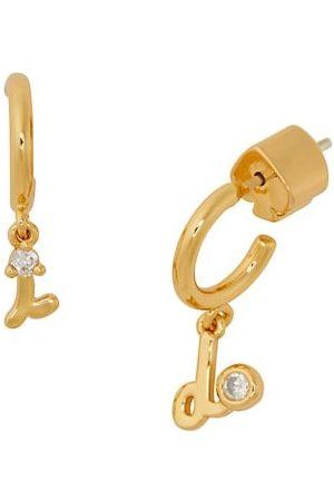 Kate Spade Goldplated & Cubic Zirconia I Do Huggie Hoop Earrings