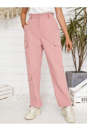 YOINS Side Pocket High Waist Cargo Pants