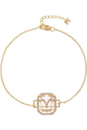Mateo 14K yellow Y initial diamond bracelet