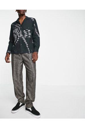 ASOS DESIGN High waist slim wool mix smart trousers in