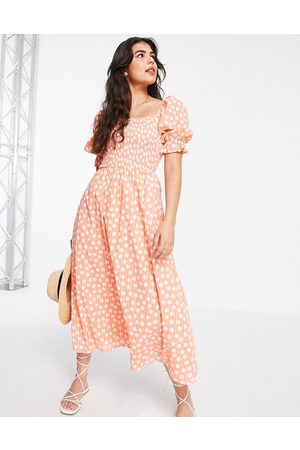 New Look Women Casual Dresses - Shirred tiered midi in pattern