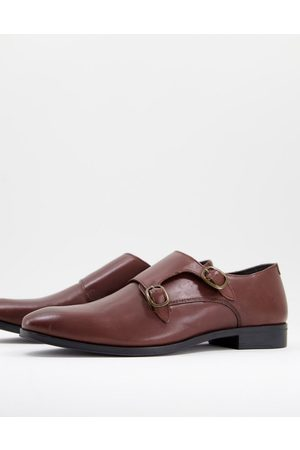 ASOS DESIGN Monk shoe in leather