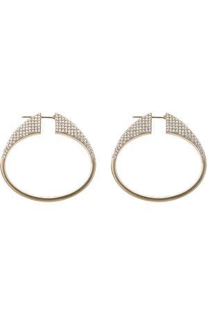 DINA KAMAL 18kt yellow tribal diamond earrings