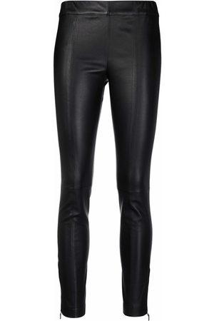 Salvatore Ferragamo Cropped leather leggings