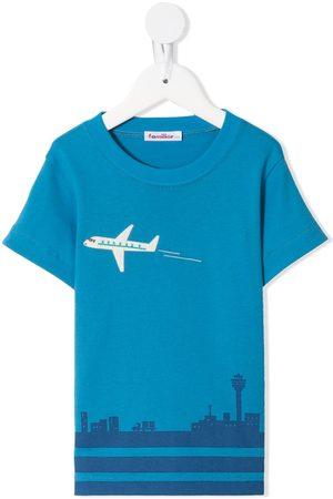 Familiar Printed short-sleeved T-shirt
