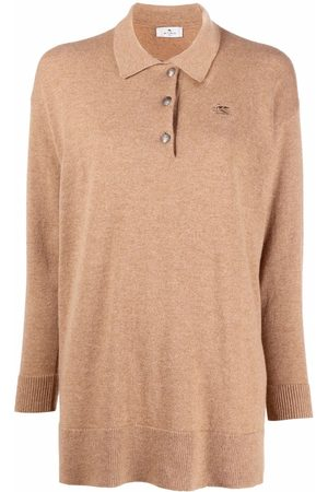 Etro Logo-embroidered knitted polo top