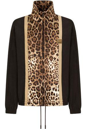 Dolce & Gabbana Leopard print track jacket