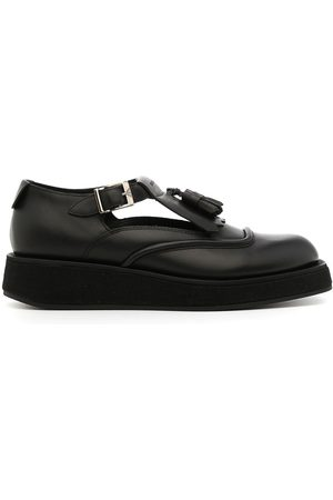 Emporio Armani Cut-out buckled loafers