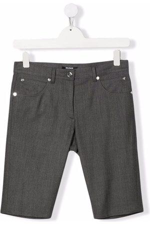 Balmain TEEN mid-rise wool shorts
