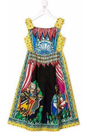 Dolce & Gabbana Folklore-print flared dress
