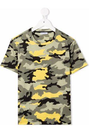 Dolce & Gabbana Camouflage-print cotton T-shirt