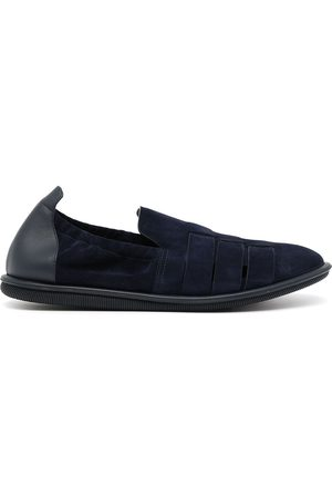 Armani Leather trim caged loafers