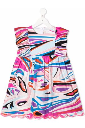 Emilio Pucci Girls Casual Dresses - Abstract-print ruffle dress