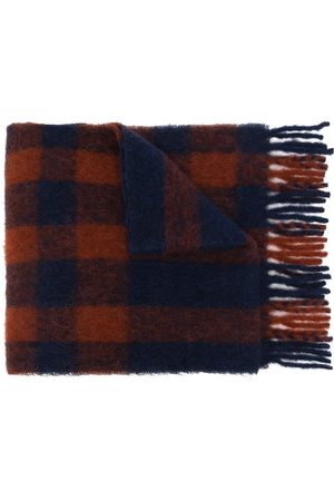 MULBERRY Women Scarves - Fringed check scarf