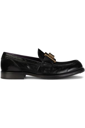 Dolce & Gabbana Men Loafers - Logo-plaque leather loafers