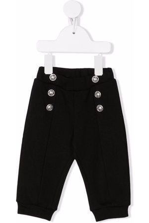 Balmain Cotton button-detail trousers