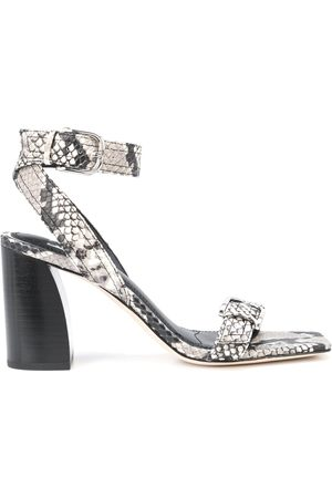 Paige Snakeskin-effect leather sandals