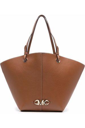 Michael Kors Logo-plaque leather tote bag