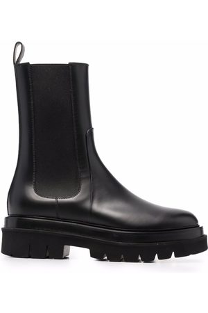 santoni Chunky leather ankle boots