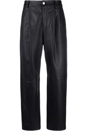 RED Valentino Cropped leather trousers