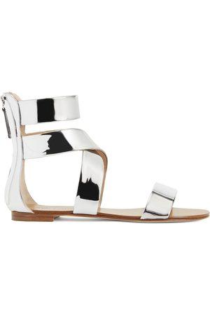 Giuseppe Zanotti Dory metallic flat sandals