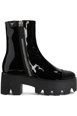 Giuseppe Zanotti Juliett patent-effect boots