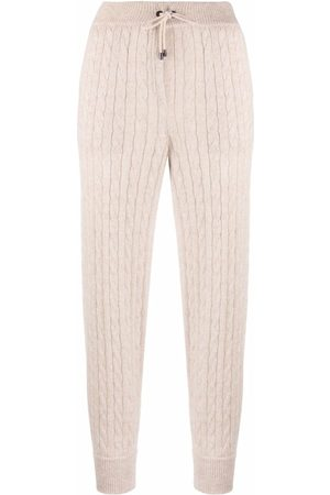 Brunello Cucinelli Cable-knit drawstring trousers