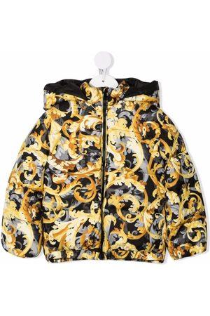 VERSACE Baroccoflage-print puffer jacket