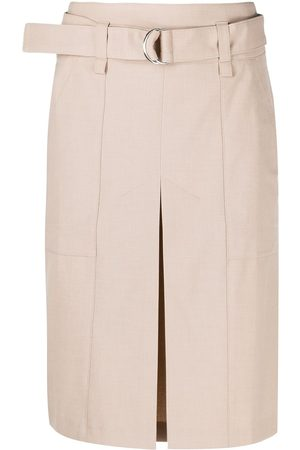 12 STOREEZ Belted knee-length skirt