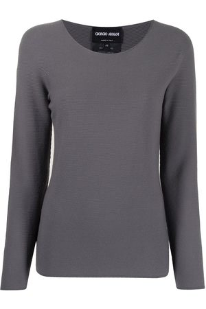 Armani Ribbed-knit fitted jumper