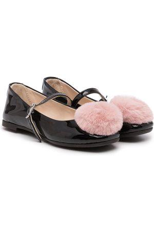 Emporio Armani Girls Ballerinas - XXD006XOV05 A155 +PINK Furs & Skins->Leather
