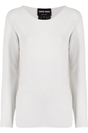 Armani Women Jumpers - Ribbed-knit fitted jumper