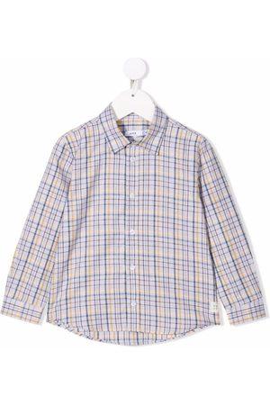 KNOT Kentaro check-print shirt