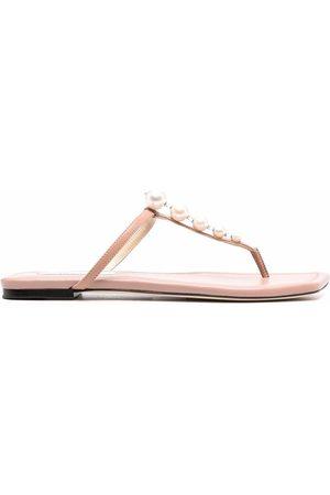 Jimmy Choo Alaina pearl-embellished sandals