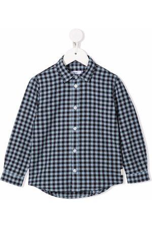 KNOT Kentaro gingham-check print shirt