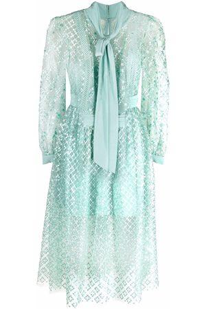 Self-Portrait Sequin-embellished mid-length dress