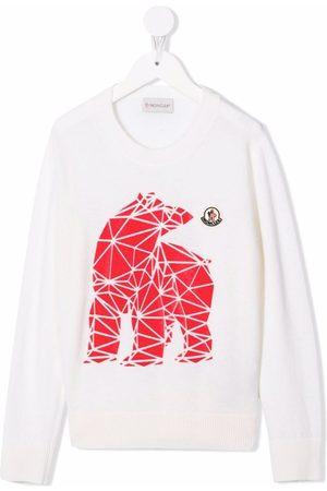 Moncler Geometric bear-print jumper