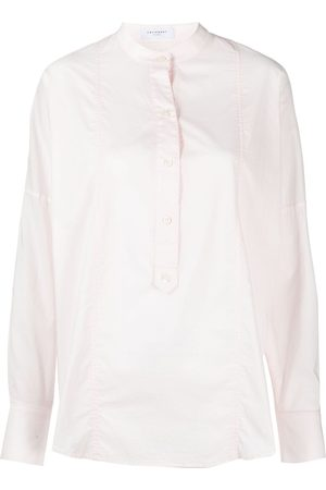 Equipment Saacha collarless cotton shirt